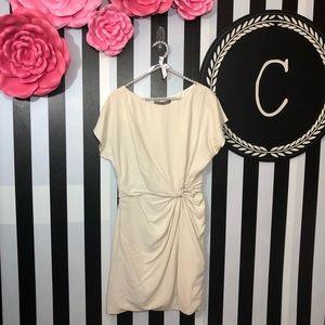 Halston Heritage Dresses - Halston Heritage | Cream Front Knot Silk Dress